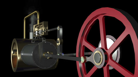 Steam Engine Animation HD Animation