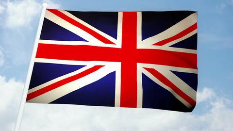 Flag England 03 Stock Video Footage