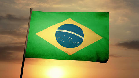 Flag Brazil 05 Animation