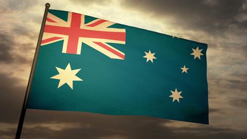 Flag Australia 05 Stock Video Footage