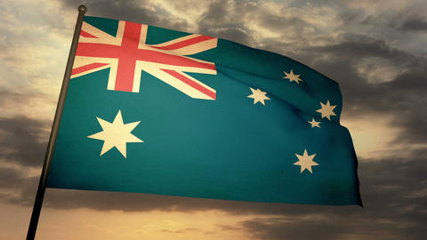 Flag Australia 05 Stock Video Footage