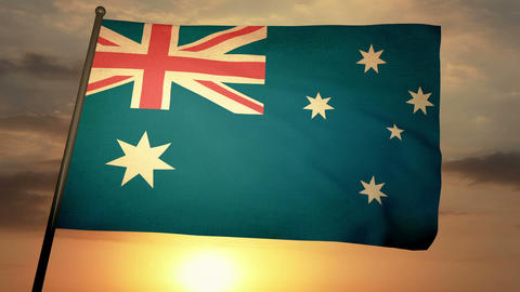 Flag Australia 05 Animation