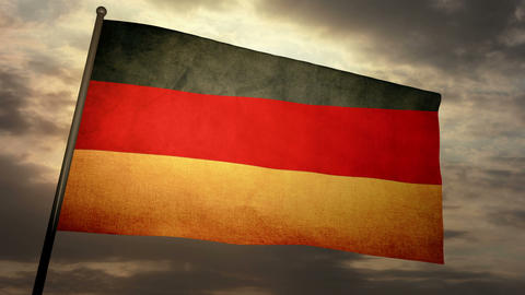 Flag Germany 05 Stock Video Footage