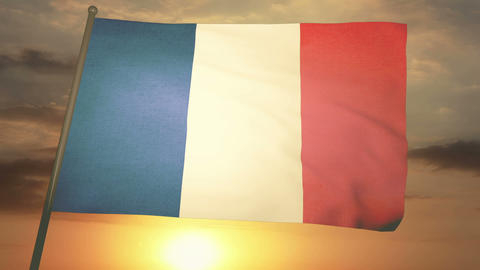 Flag France 05 Animation