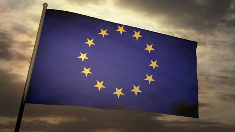 Flag Europe 05 Stock Video Footage