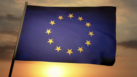 Flag Europe 05 Animation
