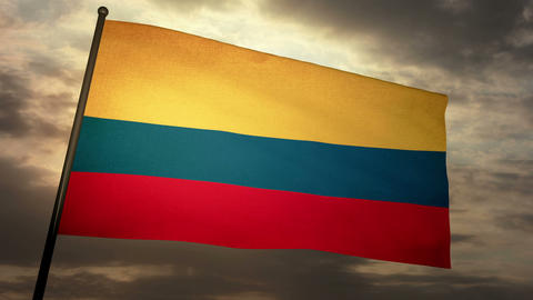 Flag Colombia 05 Animation