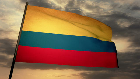 Flag Colombia 05 Stock Video Footage