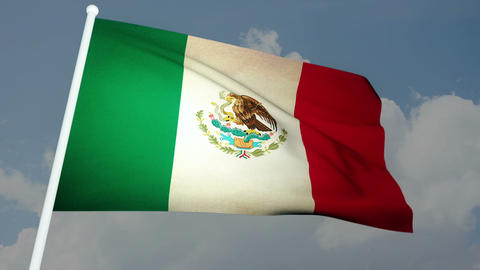 Flag Mexico 03 Stock Video Footage