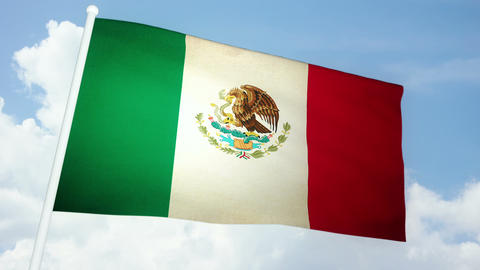 Flag Mexico 03 Animation