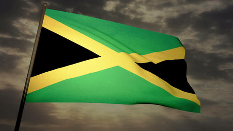 Flag Jamaica 05 Stock Video Footage