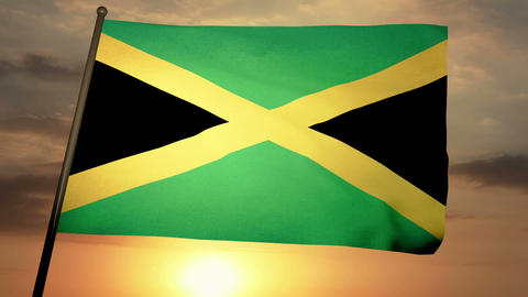 Flag Jamaica 05 Animation