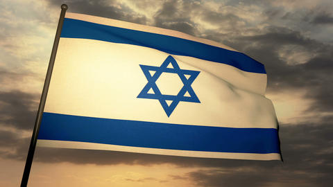 Flag Israel 05 Stock Video Footage
