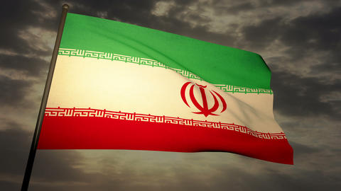Flag Iran 05 Stock Video Footage