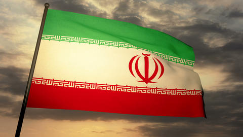 Flag Iran 05 Animation