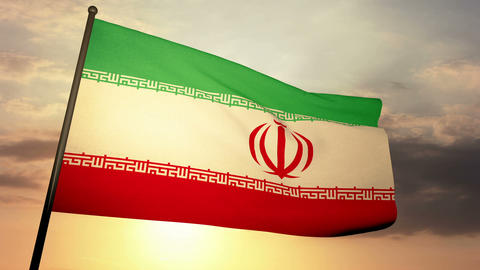 Flag Iran 05 Stock Video Footage