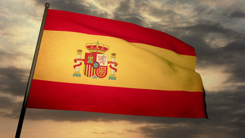 Flag Spain 05 Animation