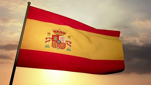 Flag Spain 05 Stock Video Footage