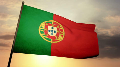 Flag Portugal 05 Animation