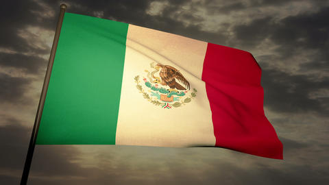 Flag Mexico 05 Stock Video Footage