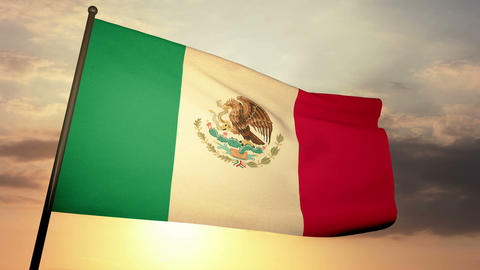 Flag Mexico 05 Animation