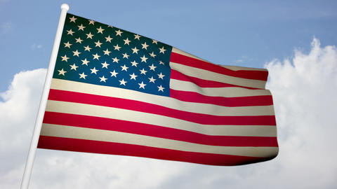 Flag usa 03 Stock Video Footage