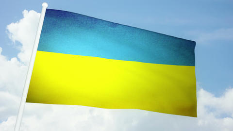 Flag Ukraine 03 Animation