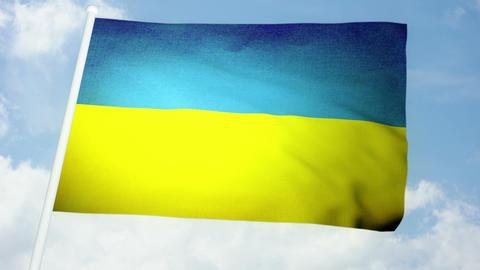 Flag Ukraine 03 Stock Video Footage