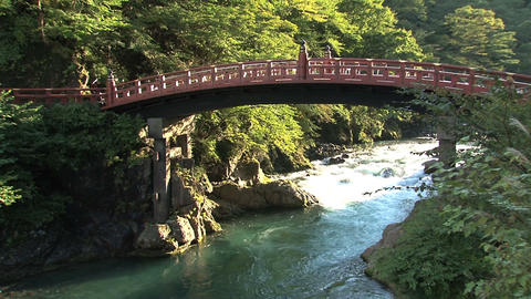 Nikko bridge tilt Footage