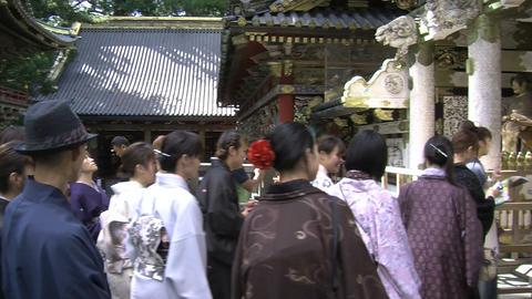 Nikko shrine kimono Stock Video Footage