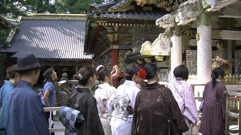 Nikko shrine kimono Stock Video Footage