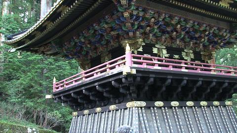 Nikko shrine tilt Stock Video Footage