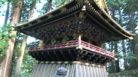 Nikko shrine tilt Stock Video Footage