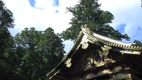 Nikko shrine timelapse Stock Video Footage