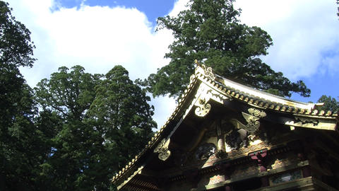 Nikko shrine timelapse Stock Video Footage