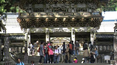 Nikko shrine 09 zoomout Stock Video Footage