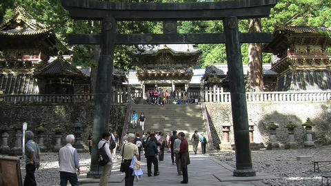 Nikko shrine 09 zoomout Stock Video Footage