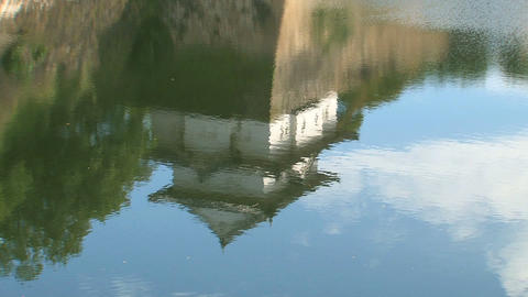 Osaka Castle water reflection Stock Video Footage