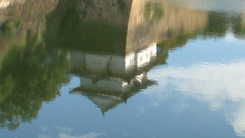 Osaka Castle water reflection Stock Video Footage