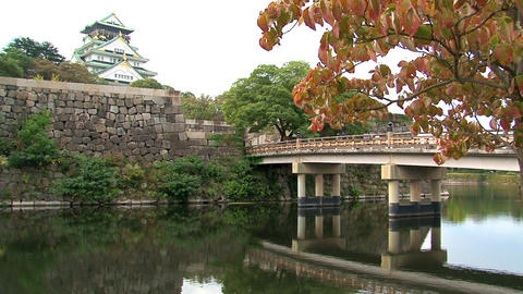 osaka castle still Stock Video Footage