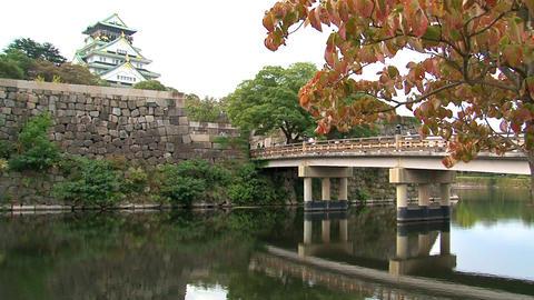 osaka castle still Stock Video Footage