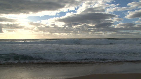 surfer in the morning Stock Video Footage
