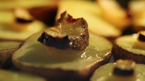 Baking Potatoes With Lard Stock Video Footage