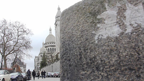 Basilica Sacre-Coeur Paris Stock Video Footage