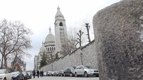 Basilica Sacre-Coeur Paris stock footage