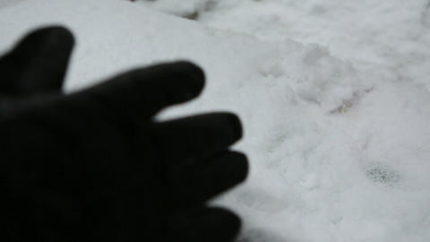 clear snow bench 02 Stock Video Footage