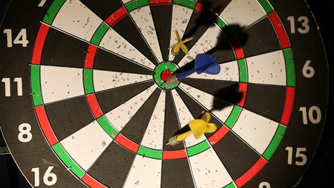 darts 02 Stock Video Footage