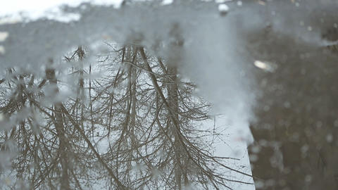 winter water 01 Stock Video Footage