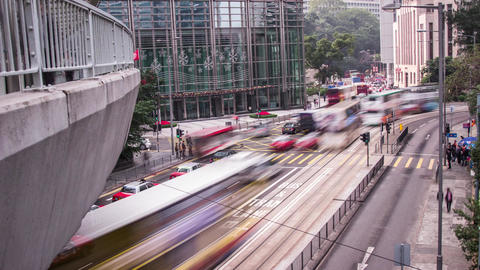 Day Traffic in Central, Hong Kong Stock Video Footage