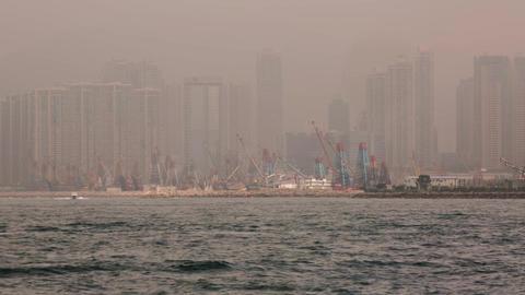 Sea Traffic on a Foggy Morning Footage